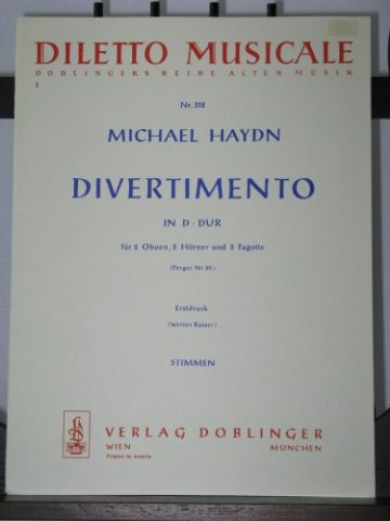 Haydn J M - Divertimento in D Perg95